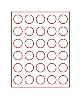 LINDNER 2761 MÜNZBOXEN Münzbox Rauchglas für 30 Münzen 37 mm Ø 1 Unze Philharmoniker Gold & Silber