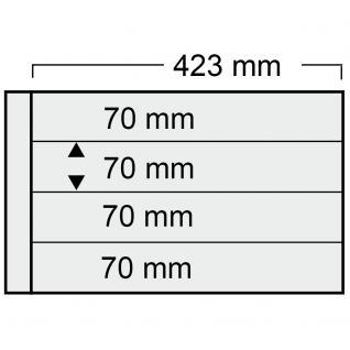 5 x SAFE 1024 Ergänzungsblätter mit 4 Taschen 423x70 mm + schwarze ZWL Für Blocks Viererblocks