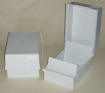 KOBRA KS1 Kunststoff Karteikasten A5 leer Für bis zu 450 Einsteckkarten Steckkarten DIN A6 C6 A5 - Vorschau 1