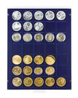 LINDNER 2135ME Velourseinlagen Marine Blau für Münzbox Münzboxen Kassetten Münzkoffer