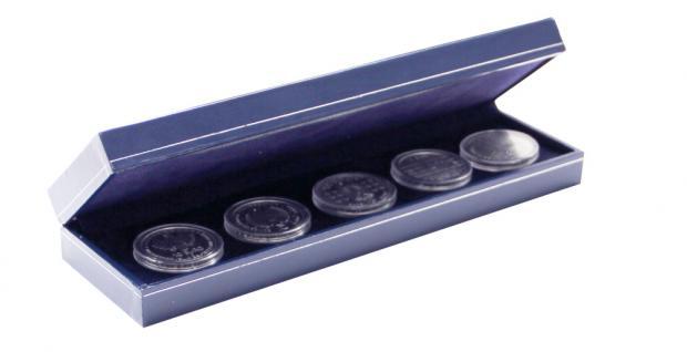 SAFE 7918 Dunkelblaues Münzetui mit Schmuckprägung - Für Münzen & Medaillen Nutzfläche 220 x 60 mm zum eindrücken - Vorschau 2
