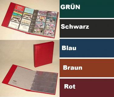 KOBRA G28 Grün Telefonkartenalbum Visitenkartenalbum mit 10 Blättern G28E Für 80 Telefonkarten Visitenkarten