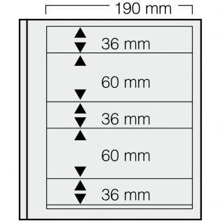 1 x SAFE 665 dual Blankoblätter Einsteckblätter Ergänzungsblätter mit je 2 Taschen 190x36 & 2 Tasche 190x60 mm Für Briefmarken Banknoten Postkarten Briefe