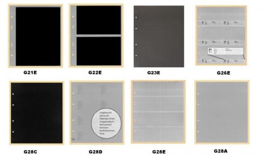 10 x KOBRA G28C Zwischenblätter ZWL Schwarzer Karton Für Ringbinder Album G22 G22B G23 G24 G24B G28 G29 - Vorschau 2