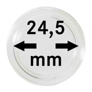 10 LINDNER Münzkapseln / Münzenkapseln Capsules Caps 24, 5 mm 50 €-Cent 225