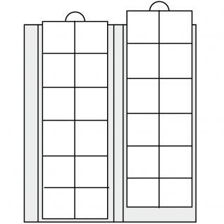 2 x SAFE 5411 Compact A4 Münzhüllen Ergänzungsblätter Hüllen 24 Fächer bis 34 mm + schwarze ZWL