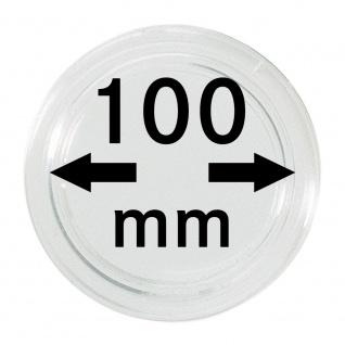 1 x Lindner S22710000 Spezial Münzkapseln Kapseln EXTRA HOCH Innen-Ø 100 mm, Innenhöhe 8, 5 mm Ideal für geocoins & TBs Travel Bugs & Geocaching