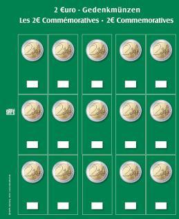 2 x SAFE 7393S Premium Ergänzungsblätter Münzhüllen 2 Euromünzen + neutr. farbiges Vordruckblatt