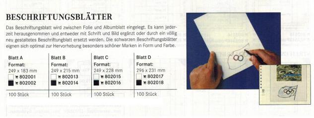 100 x LINDNER 802016 Beschriftungsblätter Schwarz 249 x 228 mm Blatt C für LINDNER-T Blanko-Blätter - Vorschau 2