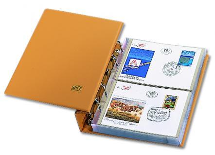 SAFE 7884 Luxus Skai Compact Briefealbum mit 20 Blättern 7874 erweiterbar bis 220 FDC Briefe