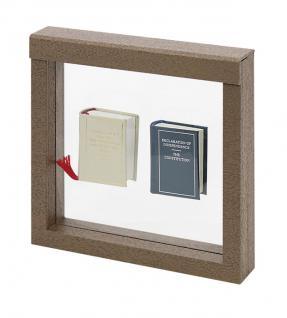 LINDNER 4878 NIMBUS 150 Sammelrahmen Braun Holzdekor Schweberahmen 3D 150x150x25 mm Für Glas Miniaturen Figuren für Setzkasten