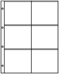 10 Lindner 8846 Ergänzungsblätter Einsteckhüllen PUBLICA L DIN A4 6 Taschen 110x98 mm Für Bierdeckel - Vorschau 2
