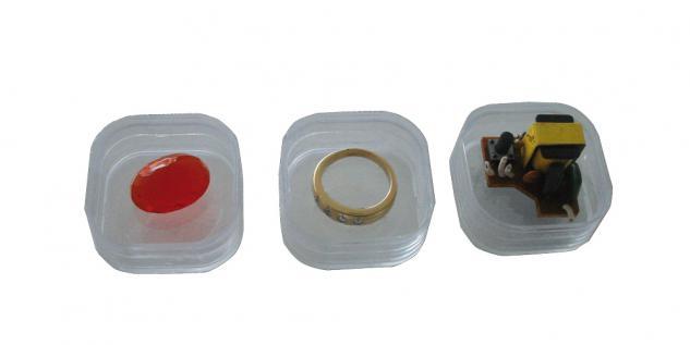 1 x SAFE 4531 SCHWEBEDOSEN Schwebe-Dosen Box 3D Glasklar 56x56x25 mm Groß - Für Perlen Mineralien Fossilien Edelsteine - Vorschau 3