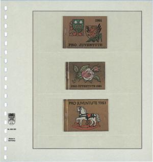 1 x LINDNER 802320 T-Blanko-Blätter Blankoblatt 18-Ring Lochung - 3 Taschen 72 / 73 / 73 x 189 mm - Vorschau 2