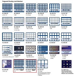 SAFE 279-6 ALU Münzkoffer SMART Deutschland 3D Plakette + 6x 6337 Tableaus mit 20 Runden Fächern Für 120 Münzen Ideal für 10 - 20 Euro Gedenkmünzen in Münzkapseln 32, 5 mm PP randlos - Vorschau 3