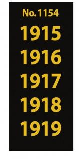 SAFE 1154 SIGNETTEN Aufkleber Jahreszahlen Year dates 1915 1916 1917 1918 1919