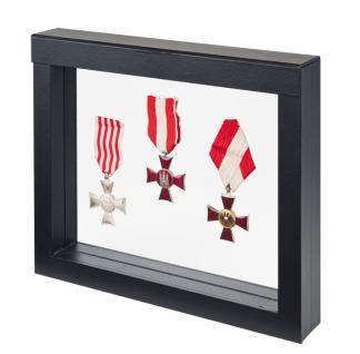 LINDNER 4831 NIMBUS 230 Sammelrahmen Schweberahmen 3D Für Militaria - Orden - Abzeichen - Vorschau 1