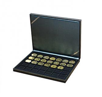 LINDNER 2364-2135CE Nera M Sammelkassetten Carbo Schwarz 35 Quadratische Fächer 36 x 36 mm für Jetons Poker Chips Roulette Casino
