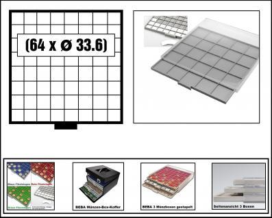 SAFE 6608-6 BEBA MÜNZBOXEN 64 quadratische Fächer 33, 6 mm + weissen Kartoneinlagen Für 5 - 10 DM - 5 Euro Blauer Planet Erde / Klimazonen 5 - 10 - 20 Mark DDR - 10 - 20 EURO Deutschland