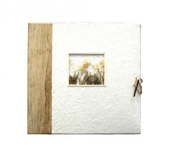 """Safe 5757 Medium """" Natur """" Fotoalbum Im Naturpapiereinband - Mit 40 Weißen Fotokartonseiten & Mit GrÄser Aplikationen Im Coverfoto - Vorschau 3"""