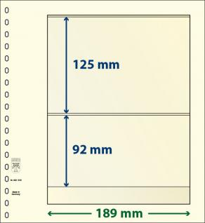 10 x LINDNER 802205P T-Blanko-Blätter Blankoblatt 18-Ring Lochung - 2 Taschen 125 / 92 x 189 mm