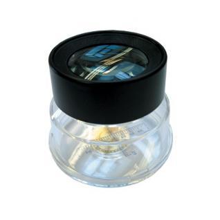 SAFE 9841 Münzen Standlupe Lupe rund Glas Linse 45 mm 7x fache Vergrößerung + Meßskala
