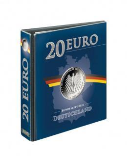 LINDNER 3636R Münzalbum PUBLICA M 20 Euro Gedenkmünzen Deutschland Vordruckalbum ab 2016 (leer) zum selbst befüllen
