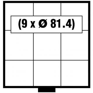 SAFE 6203 BEBA Schuber Schubladen Münzschuber 9 quadratische Fächer x 81, 4 mm für den MINI Münzkasten