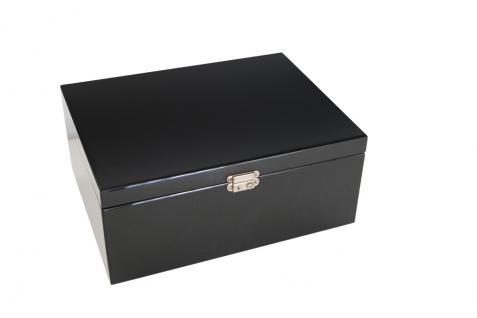 SAFE 5659-3 Schwarze Schubladen dreifach tief 49 mm blaue Einlage für 36 Ringe aller Art zum stecken - Vorschau 2