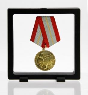 SAFE 4528 SCHWEBERAHMEN NEO FOTORAHMEN BILDERRAHMEN 3D Schwarz 110 x 110 mm / 92 x 92 mm Für Orden - Ehrenzeichen - Abzeichen - Pins - Militaria