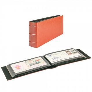 LINDNER 812L-R Firmo L Universal Album Sammelalbum Rot Lang 245 x 132 mm Für 108 Briefe FDC Postkarten Ansichtskarten Banknoten Geldscheine