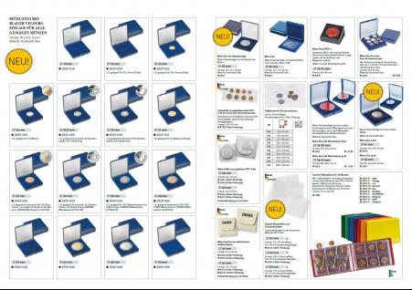 100 LINDNER 4027 Doppelmünzhüllen Doppel Münztaschen Münzenhüllen aus PVC klare Folie für Münzen bis 60 mm - Vorschau 2