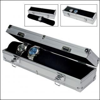 SAFE 255 ALU Uhrenkoffer Fashion mit Samtrolle für 7 Uhren Damen Herren Armbanduhren Schmuck