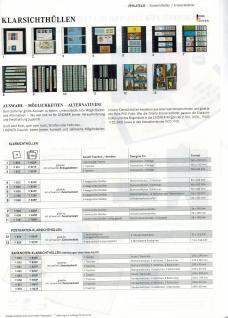 10 LINDNER 822P Klarsichthüllen Glasklar Schwarz mit 3 Taschen 240 x 90 mm Für Banknoten Briefe - Vorschau 2