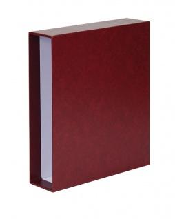 LINDNER 3504-W Weinrot - Rot Schutzkassette Kassette Schuber für PUBLICA L Ringbinder 3503