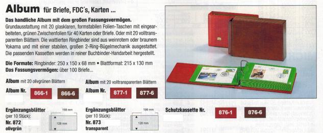 SAFE 877-1 Album Ringbinder Weinrot - Rot + 20x glasklar transparente Blätter Für Briefe, FDC's, Banknoten, Postkarten - Vorschau 2