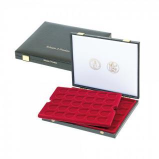 LINDNER 2044 Luxus Kassetten mit 2 Tableaus 60 x Schweizer 5 Franken Gedenkmünzen Schweiz