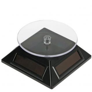 SAFE 5332 Solarbetriebene Drehbarer Deko Drehteller Display Ständer Präsentierteller 90 mm Schwarz Für Schmuck - Uhren - Antiquitäten - Mineralien - Fossilien - Figuren - Modellbau - Vorschau 2