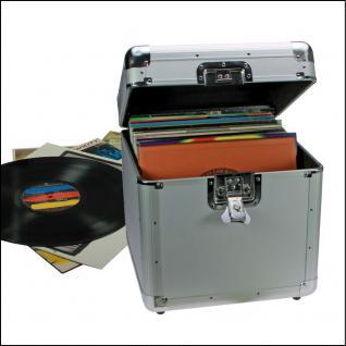 """SAFE 221 ALU Schallplatten - Koffer Schallplattenkoffer Für bis zu 100 Vinyl LP Schellack Platten Langspielplatten 33"""" - Vorschau 2"""