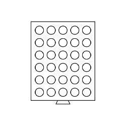 Leuchtturm 308810 Münzbox Münzboxen 30 runde Fächer 34 mm 50 ÖS Schillinge MB30R/34 Rauchfarbend - Vorschau