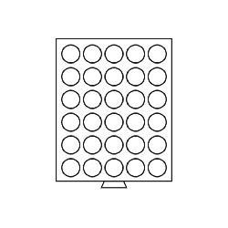 Leuchtturm 321186 Münzbox Münzboxen 30 runde Fächer 37 mm 10 FF 1 Unze Mexiko 5 Sfr bis 1928 MBG30R/37 Grau - Vorschau