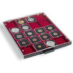 Leuchtturm 310511 - MB20M Münzbox Münzboxen Rauchfarbend 20 eckige Fächer 50 mm Quadrum Münzkapseln Münzrähmchen - Vorschau