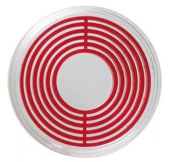 1 x LINDNER 2230P Münzenbox Kapseln Münzkapseln mit hellroten Inlett klein 16 - 39 mm