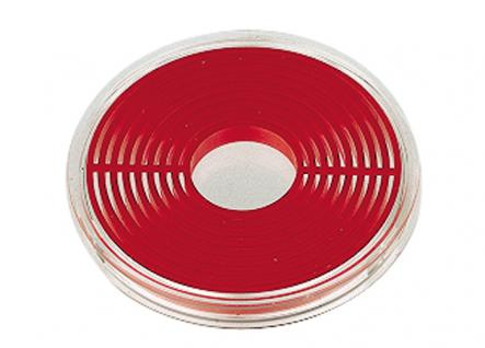 10 x LINDNER 2231P Münzenbox Kapseln Münzkapseln mit hellroten Inlett groß 16 - 51 mm - Vorschau 2