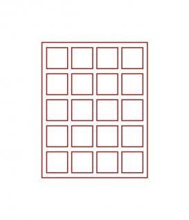 Lindner 2820 D-Box Münzboxen Sammelboxen 20 Münzen 47x 47 x 22 mm hellrot Standard Grau