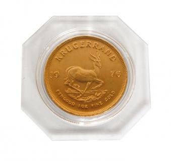 2 x Lindner OS028 OCTO Münzkapseln Set + 2 Münzenkapseln 28 mm Innendurchmesser für 1/2 Unze American Eagle Krügerrand Gold 50 ÖS - Vorschau 2