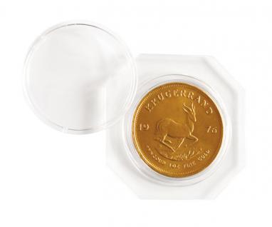 2 x Lindner OS021 OCTO Münzkapseln Set + 2 Münzenkapseln 21 mm Innendurchmesser für 50 Pf. 1/4 Unze Maple Leaf Nugget Känguru Gold - Vorschau 3