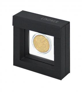 LINDNER Set 4835 - 021 NIMBUS OCTO Rahmen 66 x 66 x 24 mm + OCTO Münzkapsel 21 mm Ø für 50 Pfennig 1/4 Unze Meaple Leaf Gold - Vorschau 2