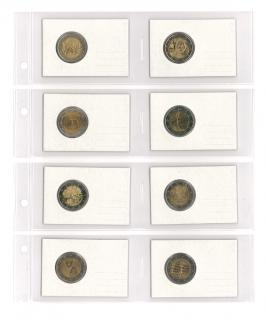 10 x LINDNER MU1364 Multi Collect Blätter Münzhüllen 8 Taschen 93 x 64 mm REBECK COIN L Münzrähmchen & Telefonkarten