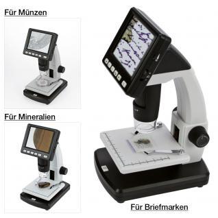 SAFE 9755 LCD Digital Mikroskope 10 - 500 fach mit Leuchtbildschirm - USB - Vergrößerung Momentaufnahmen und Videos im Zeitraffer